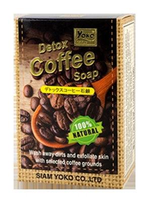 Мыло на основе экстракта кофе/YOKO GOLD DETOX COFFEE SOAP 80g.