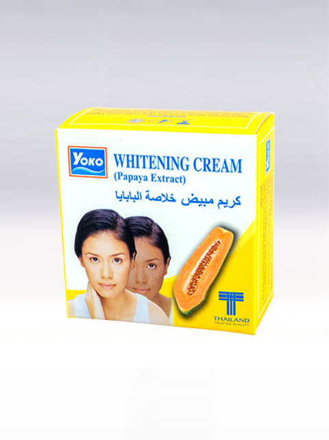 Крем для лица/YOKO WHITENING CREAM (PAPAYA EXTRACT). 4g