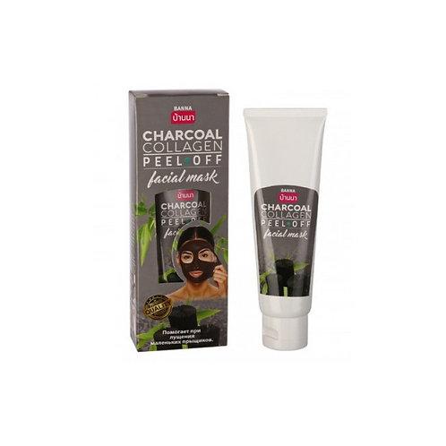 Маска пленка для лица/CHARCOAL COLLAGEN PEEL OFF facial mask. Banna. 120ml