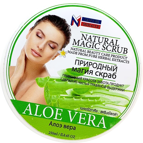Скраб для тела/Natural Magic Scrub ALOE VERA. Nature Miracle. 250ml