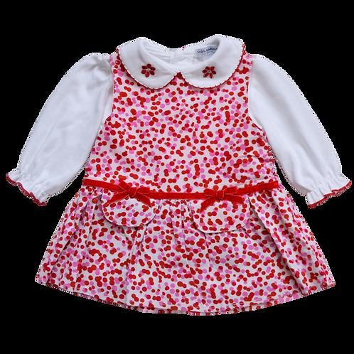 Платье для девочек, MON CARAMEL bebi. 6, 9, 12 месяцев