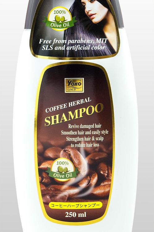 Шампунь кофейный/YOKO GOLD COFFEE HERBAL SHAMPOO. 250 ML.