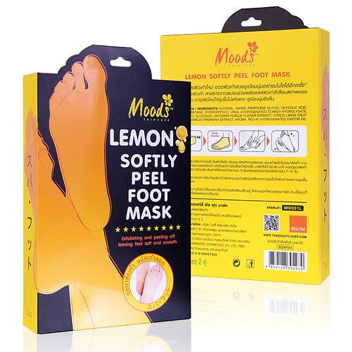 Маска для ног с лимоном/MOODS LEMON SOFTLY PEEL FOOT MASK 2пары