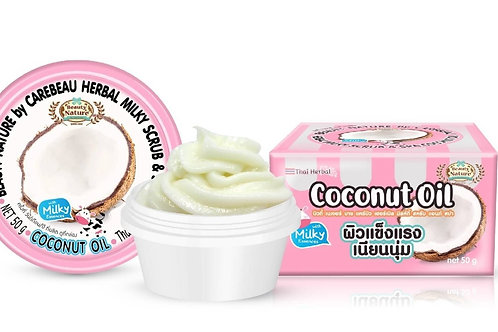 Cкраб для лица/Beauty Nature by Carebeau Herbal Milky scrub & Spa Coconut. 50g