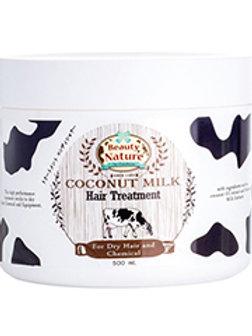 Маска для волос/Beauty Nature by Carebeau Coconut milk Tratmen. 500 ml