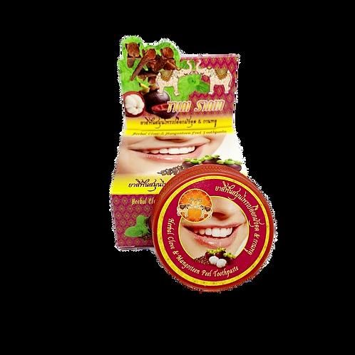 Зубная паста/Herbal Clove & Mangosteen Peel Toothpaste. Thai Siam. 25g