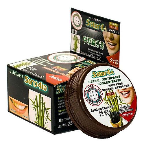 Зубная паста 5star4a с бамбуком/Toothpaste Bamboo Nockthai,25гр
