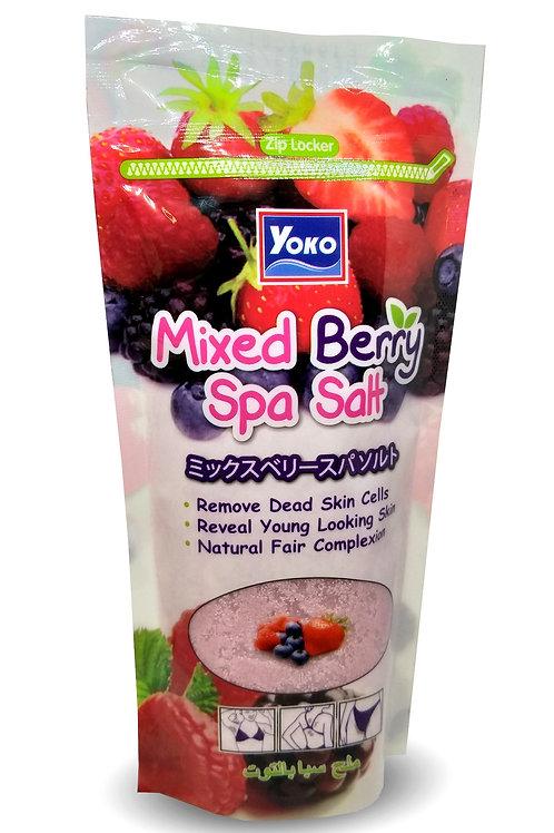 Солевой скраб для тела, клубника/YOKO MIXED BERRY SPA SALT, Yoko. 50g