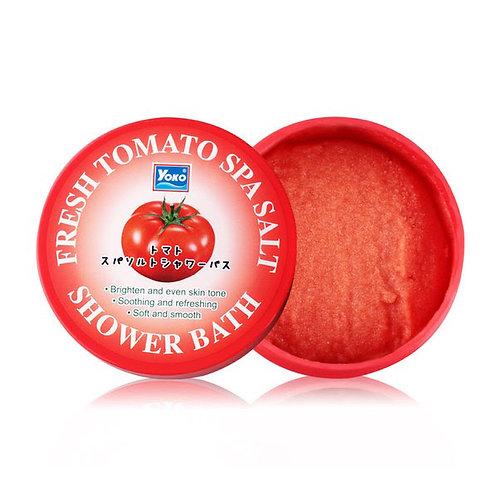 Солевой скраб/YOKO FRESH TOMATO SPA SALT SHOWER BATH. 240g