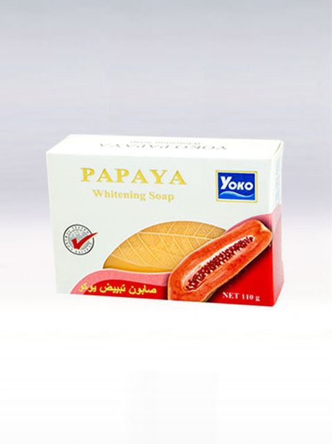 Мыло с папайей/YOKO PAPAYA WHITENING SOAP,110g