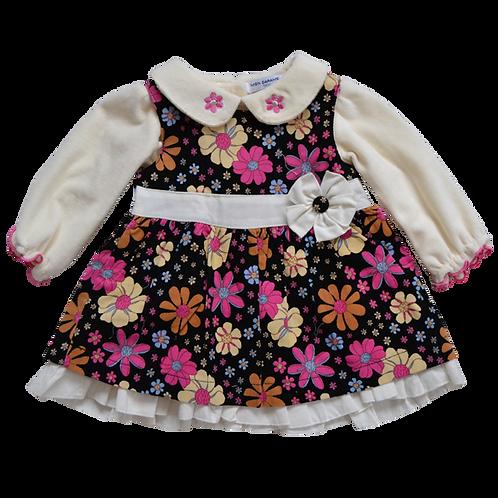 Платье для девочки 2 в 1, MON CARAMEL bebi. 3, 6, 9 месяцев
