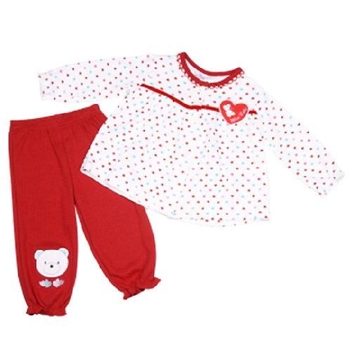 Комплект для девочки 2 в 1, Mini baby. 6-9, 9-12, 12-18, 18-24, 24-30 мес