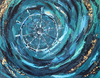 Acrylic painting abstract Atelier SIGRIST