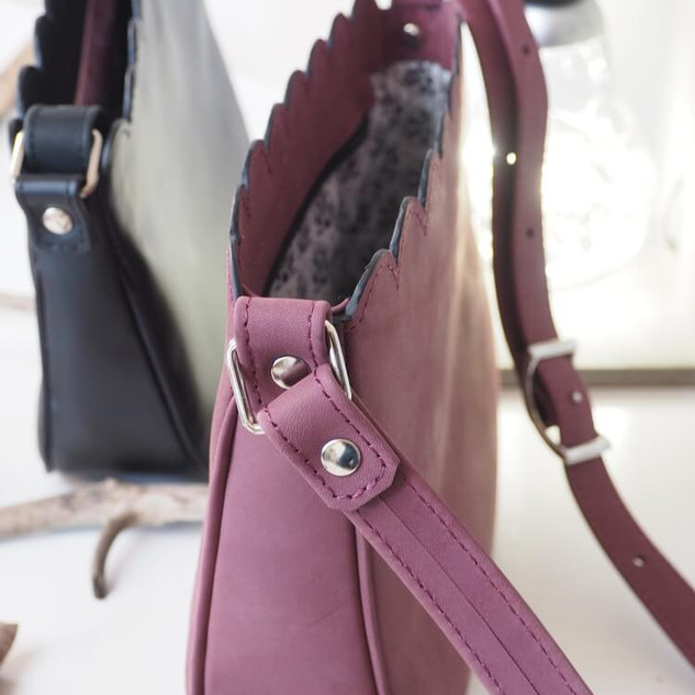 petit sac en cuir véritable fait main made in France
