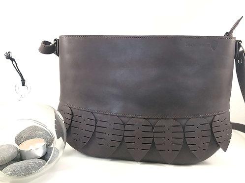 sac en cuir besace marron fait main