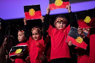 Kalaya Children singing at the plenary 1
