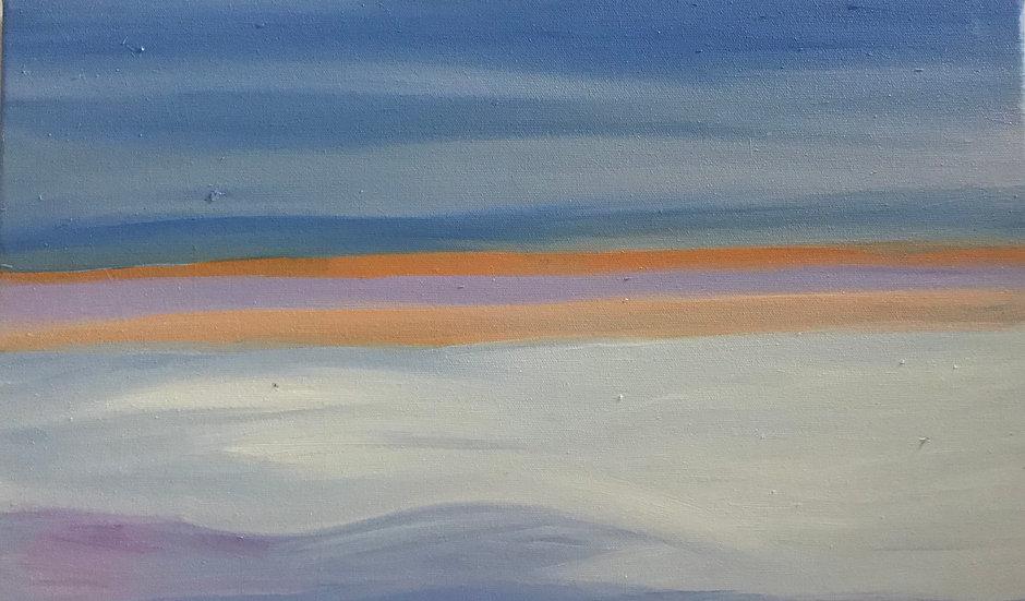 Winter Ice on the Curonian Lagoon, 40 x 40