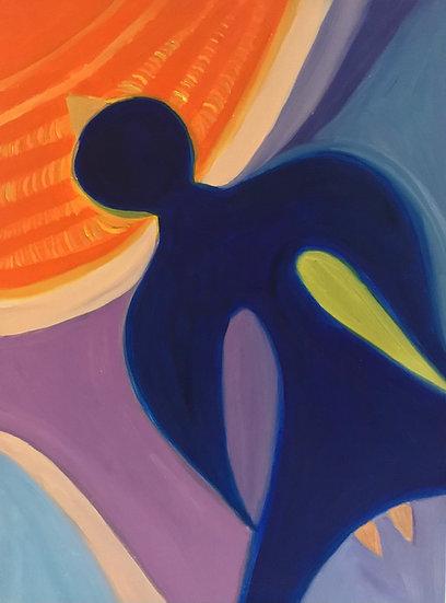 Moteris Paukštė, 40 x 60