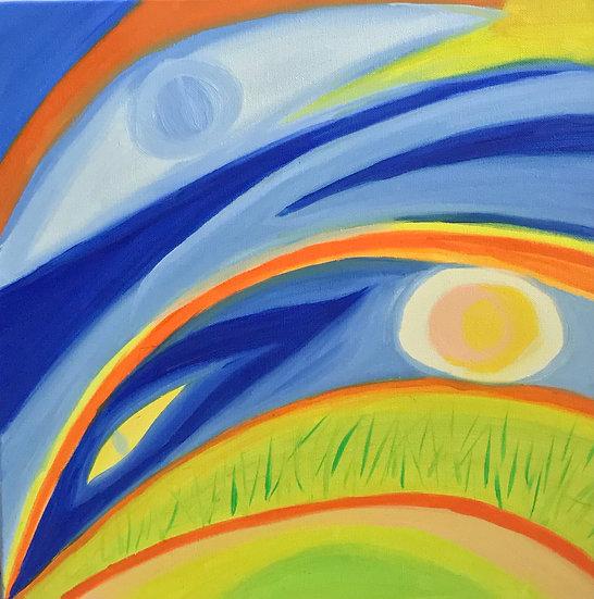 Sunset's Eye II, 40 x 40