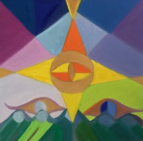 Winter's Eye, 40 x 40