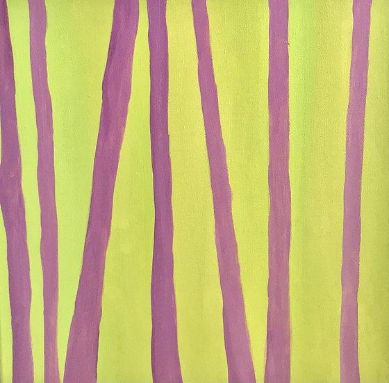 Žiemos šviesa krinta ant pavasarėjančio miško, 40 x 40