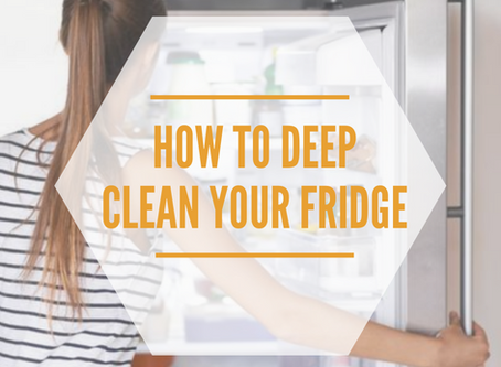 Deep Cleaning Your Fridge