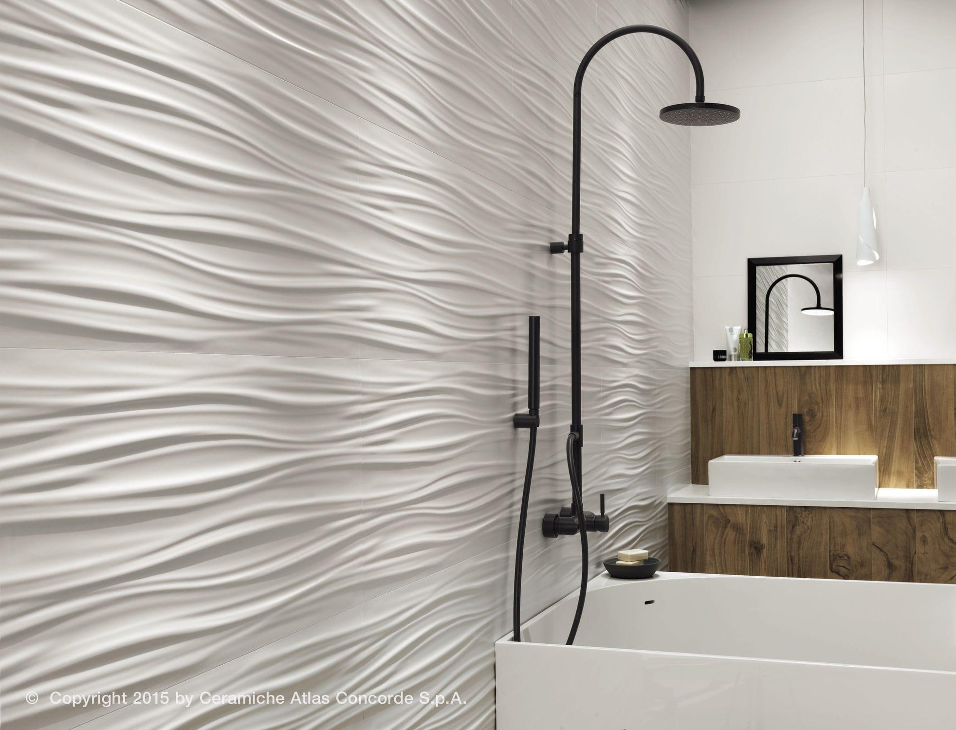 Wave effect en salle de bain