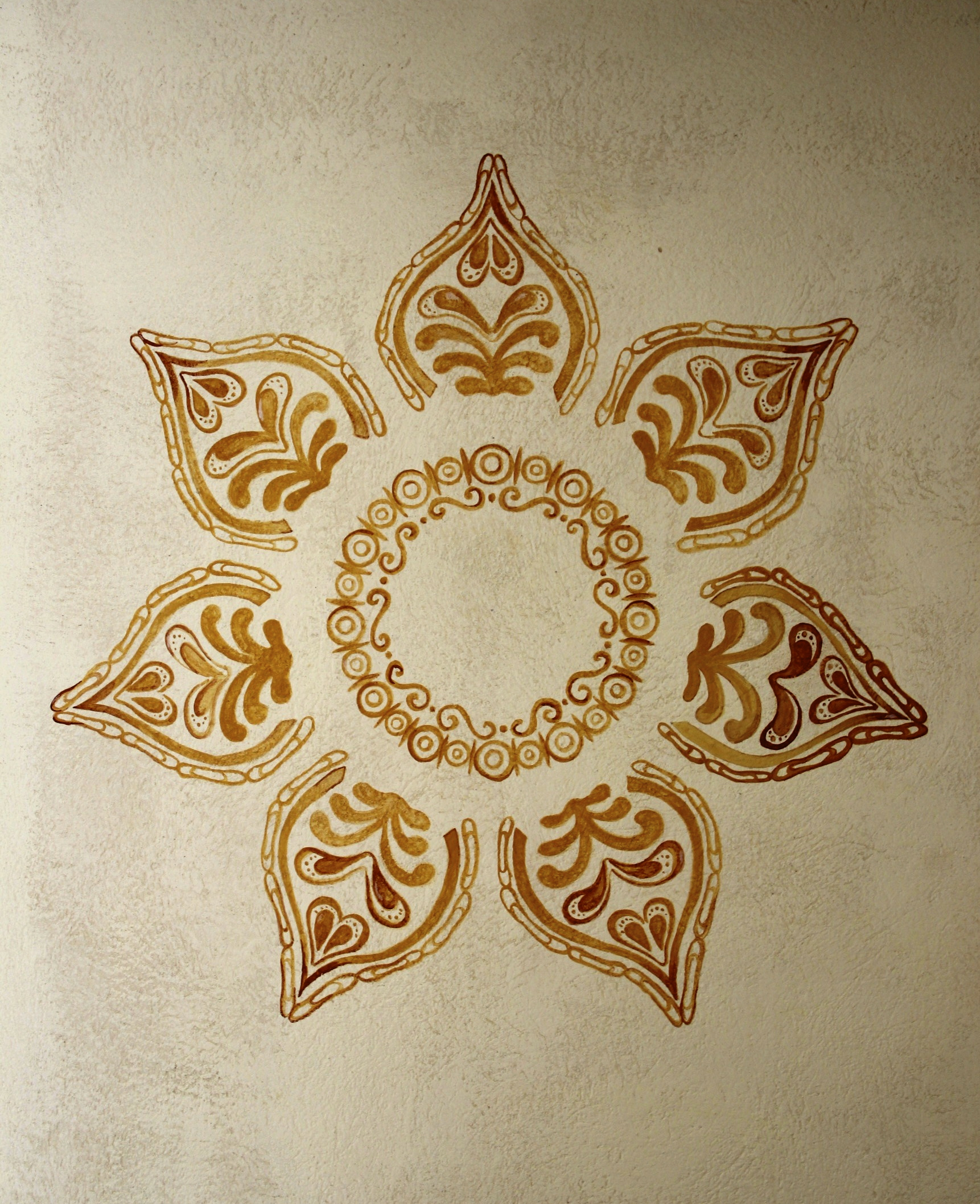 Mandala auf Lehm