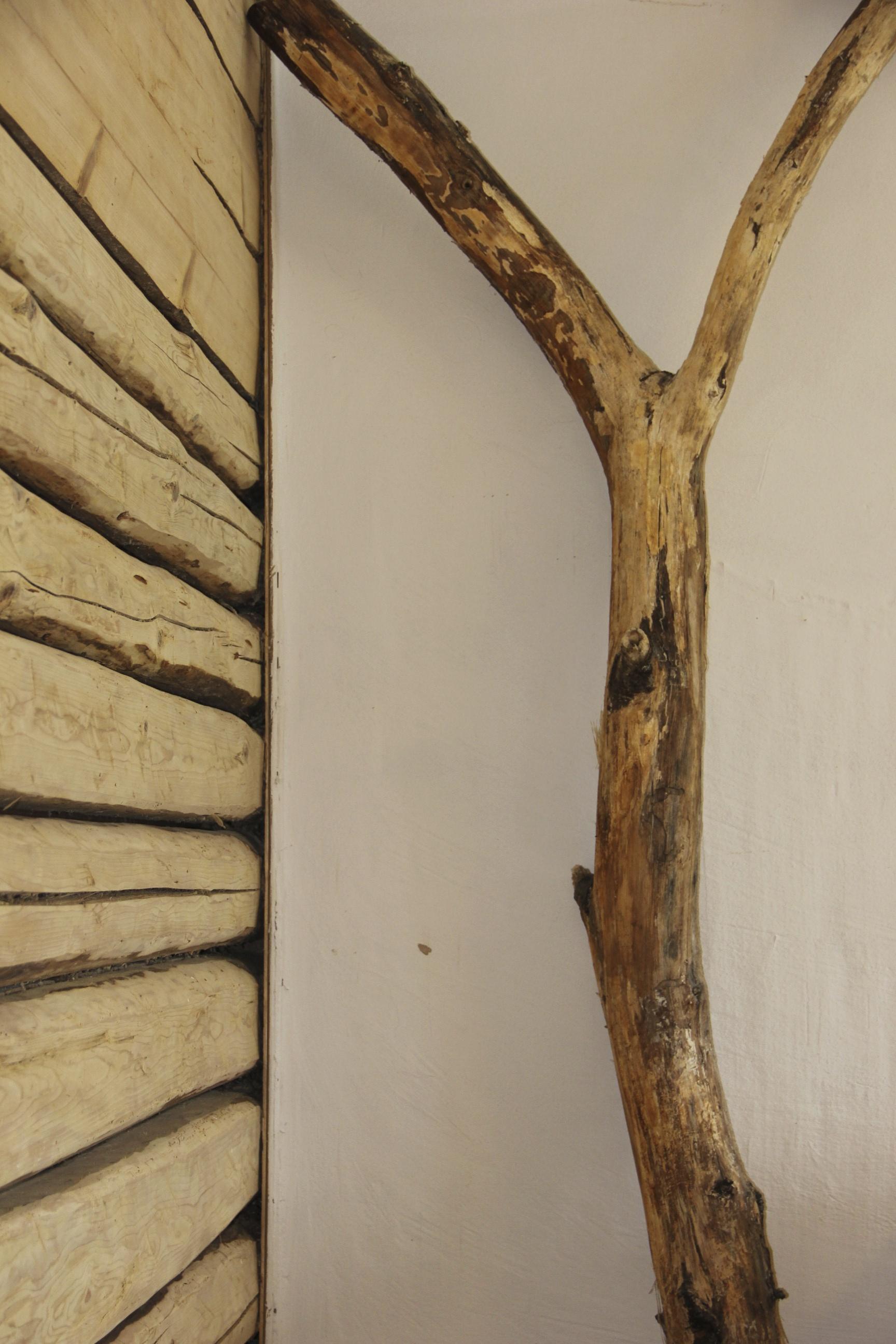 Lehmputz mit Holz
