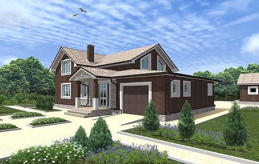 Проект дома, до 200 кв метров, материал газоблок