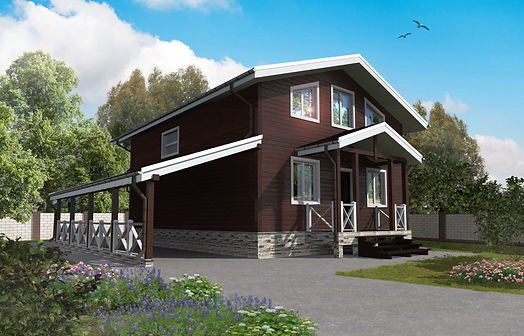 Проект дома, до 150 кв метров, материал деревянный каркас
