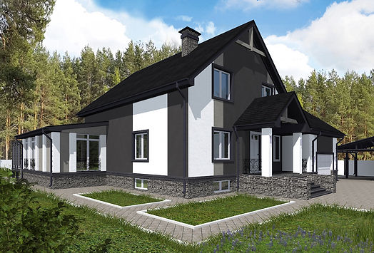 Проект дома, до 300 кв метров, материал газоблок