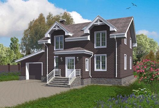 Проект дома, до 250 кв метров, кирпичный дом, материал кирпич