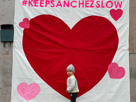Classic Gray SF Day Turns Into Colorful Valentine's Love Fest on Slow Sanchez