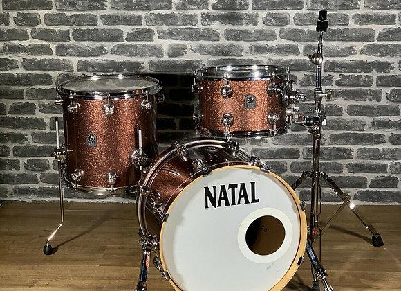 "Natal Originals Maple 3 Piece 18"" Shell Pack Bop Drum Kit #266"