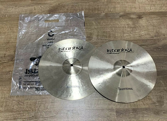 "Istanbul Mehmet Traditional Hi Hat Cymbals 14"" HARDLY USED #335"