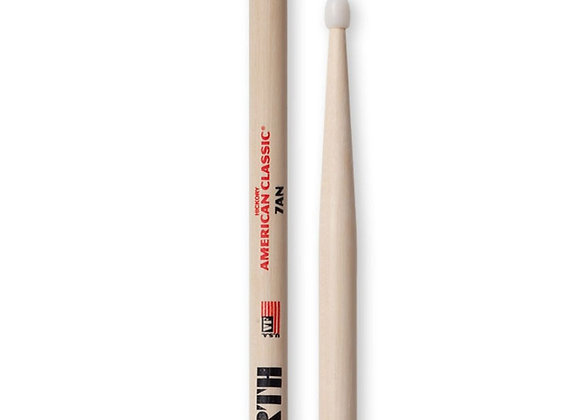 Vic Firth American Classic 7AN Nylon Tip Hickory Drumsticks