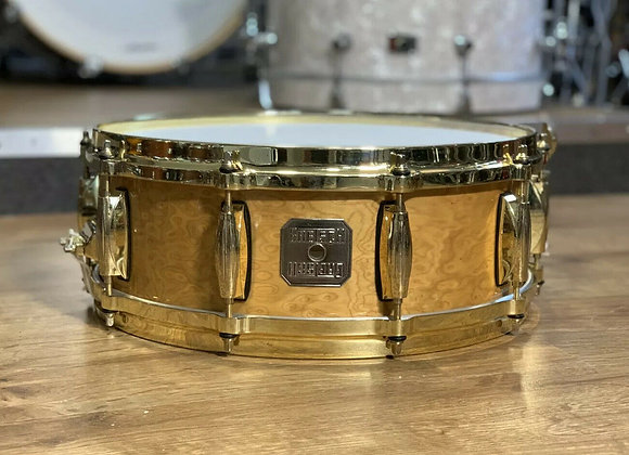 "Gretsch Prototype USA 14"" Birdseye Maple Snare With Gold Hardware #347"