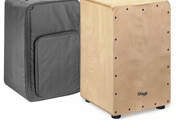 Stagg CAJ-50M N Standard Sized Birch Cajon - Natural Front w/ Bag
