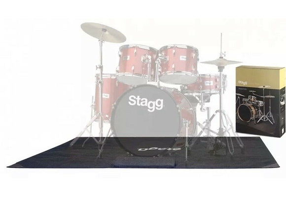 Stagg SCADRU1815 Drum Carpet Rig May with Carry Bag And Bass Drum Stopper