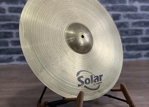 "20"" Sabian Solar Ride Cymbal #412"