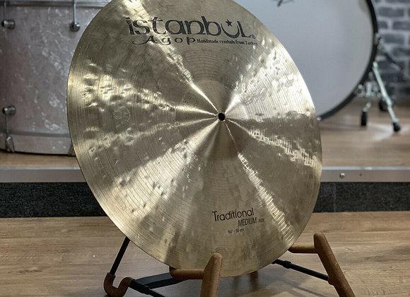 "Istanbul 20"" Mehmet Traditional Medium Ride Cymbal #390"
