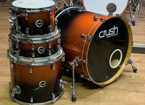 Crush Sublime Drum Kit Shell Pack Orange To Black Fade #114