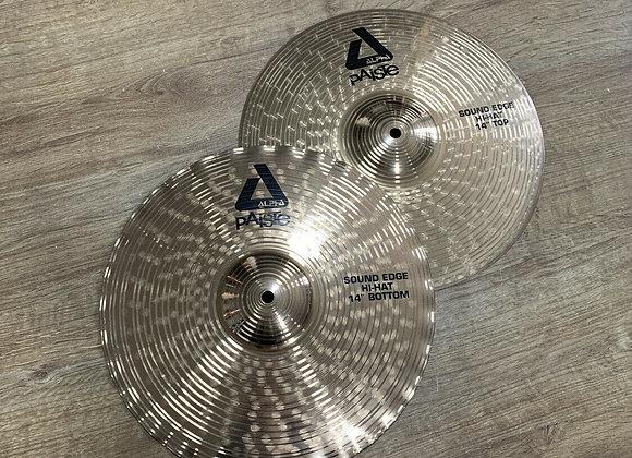 "Paiste Alpha Sound Edge 14 "" Hi Hat Cymbals #404"
