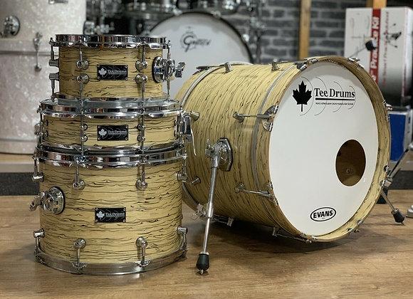 """Tee Drums Custom Drum Kit Bop Kit 18"""" Bass Drum #401"""