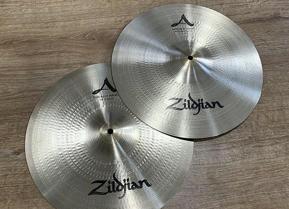"""Zildjian A 15"""" New Beat Hi Hat Cymbals #392"""