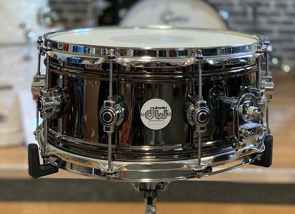 """DW Design Series 14""""x6.5"""" Black Nickel over Brass Snare Drum"""