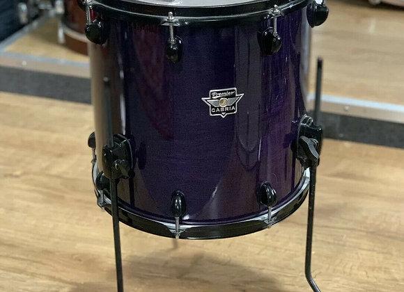 """Premier Cabria 14"""" Floor Tom Drum Black Hardware #375"""