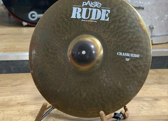 "Paiste Rude 19"" Crash/ride Cymbal #354"