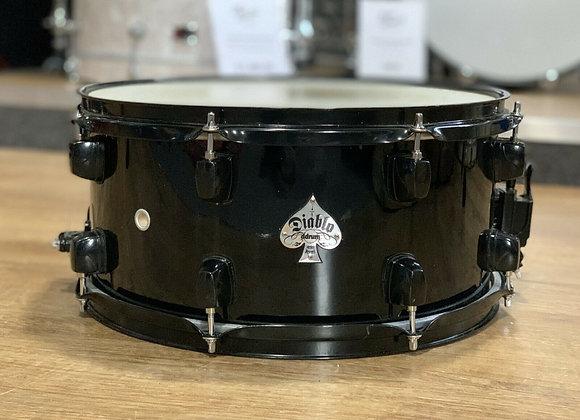 """Ddrum All Black Diablo 14"""" Snare Drum #408"""